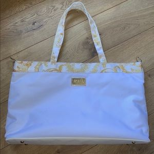 Versace Parfums White God Tote Bag Large